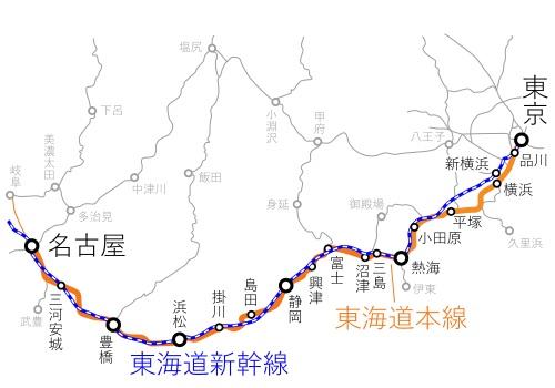 Tokyo-Nagoya_Route